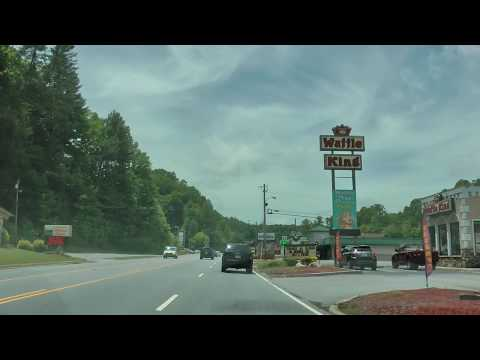 driving through Murphy, North Carolina on U.S. 64/74 and U.S. 19/129