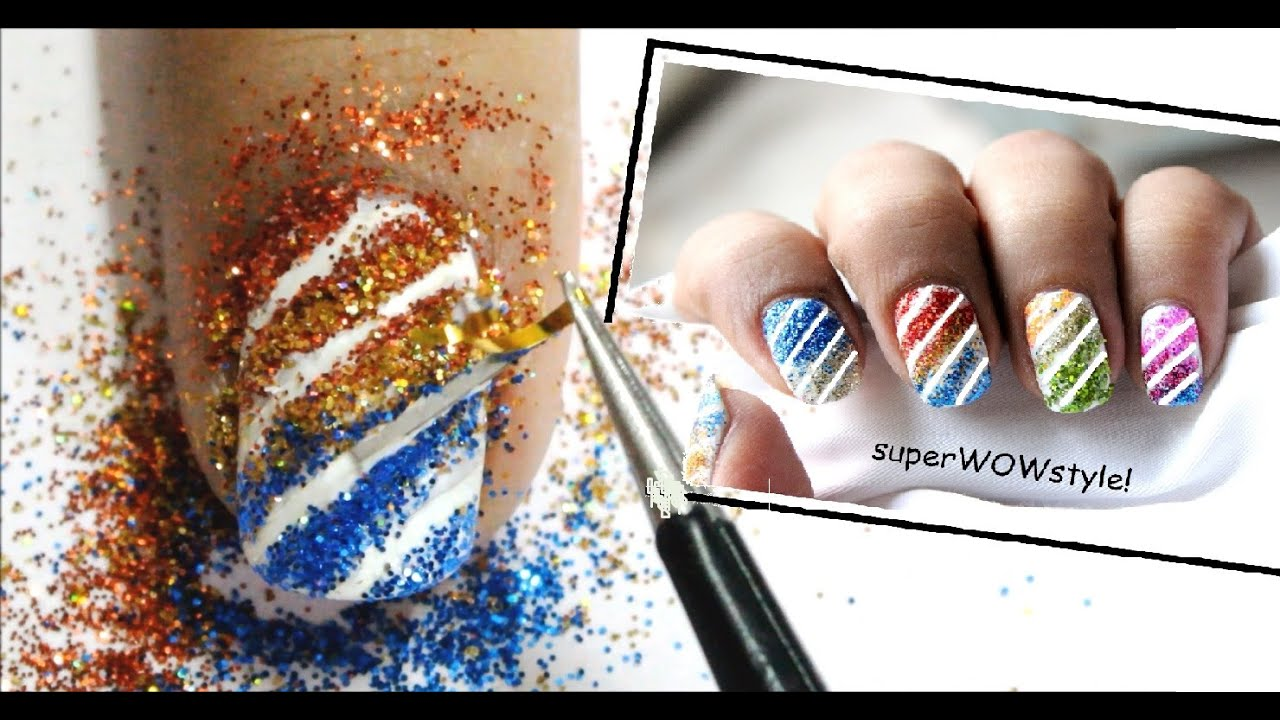 Glitter Nails ❤ Glitter Nail Polish Designs - YouTube