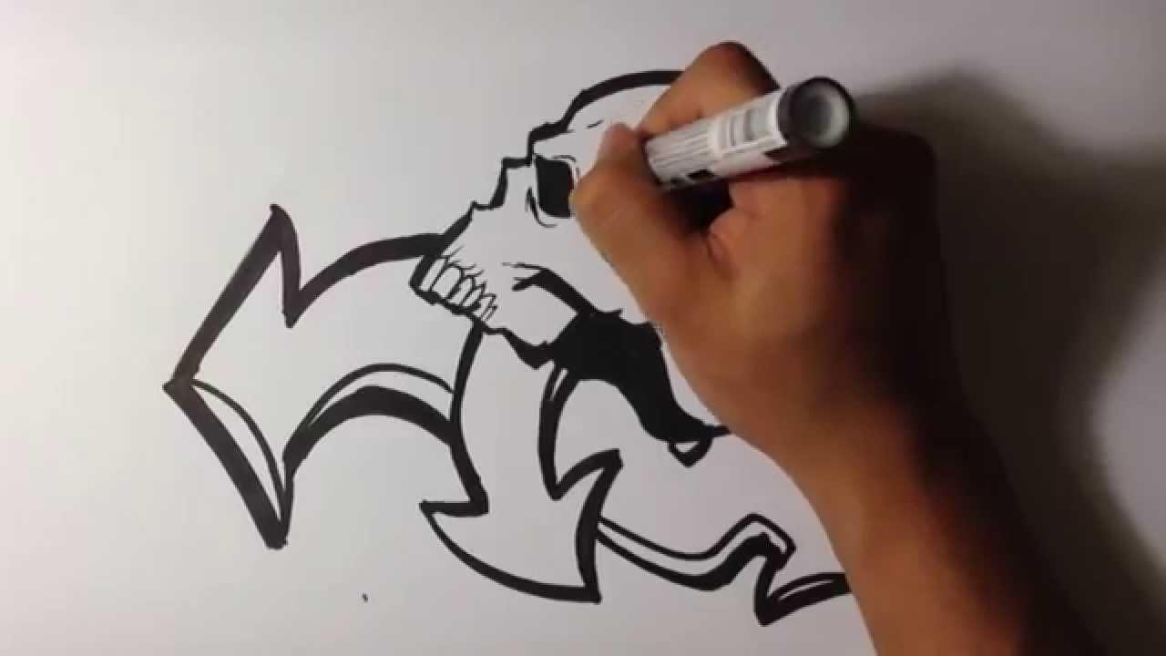 Drawing skull graffiti skull drawings youtube