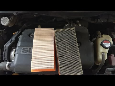 Swift dzire Engine air  filter changing