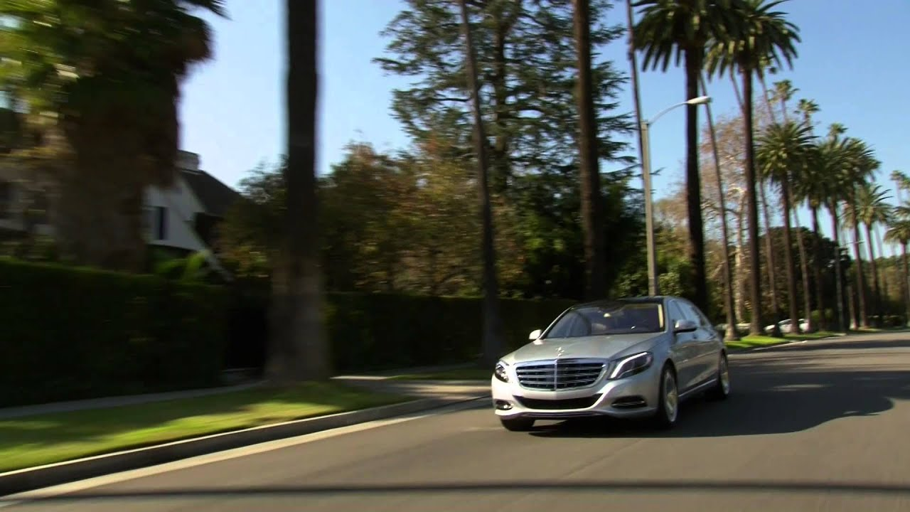mercedes-maybach s 600 in irridium silver in beverly hills