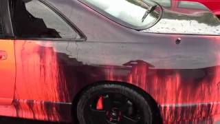 Heat sensitive paint on car