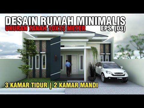 Desain Rumah Minimalis Luas 150m2  desain rumah 10x15 meter 3 kamar tidur minimalis concept eps 003