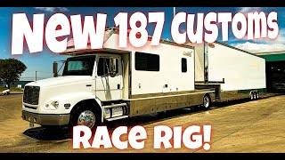 We Got Ourselves a Real-Deal Racecar Hauler! Check Out the New 187 Customs Race Rig!