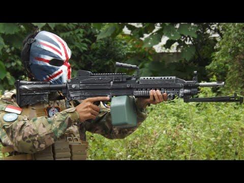 Mainan Wgg Elektrik M249 Pubg Airsoft Gun Murah Youtube