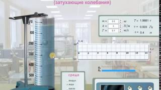 виртуальные лабораторные работы по физике. Затухающие колебания. Пружинный маятник