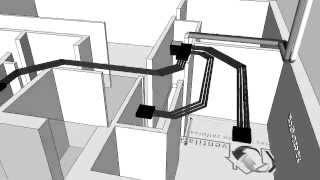Yvick - Ventilatie Demo Leidingplan - Systeem C+ EVO Healthbox II