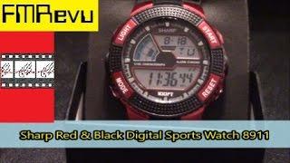 Sharp Red & Black Digital Sports Watch SHP8911 | Men