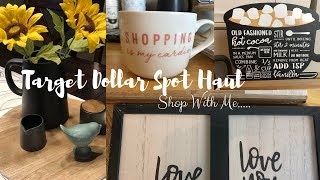 SHOP WITH ME TARGET DOLLAR SPOT // VALENTINES & FARM HOUSE DECOR