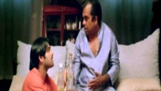 Ready Comedy - Brahmi learns about his powers (Ram, Genelia D'Souza)