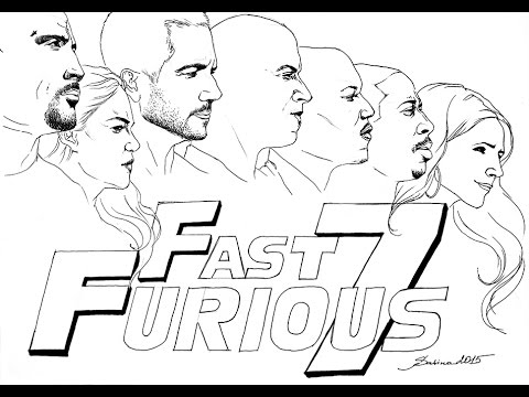 Fast And Furious 7 Ballpoint Drawing By Sabina Khosseyn Full Movie