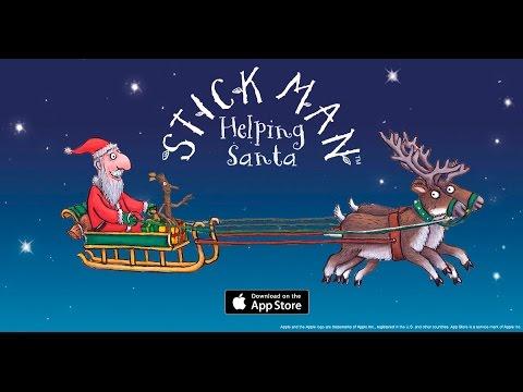 Stick Man: Helping Santa - Games App Trailer