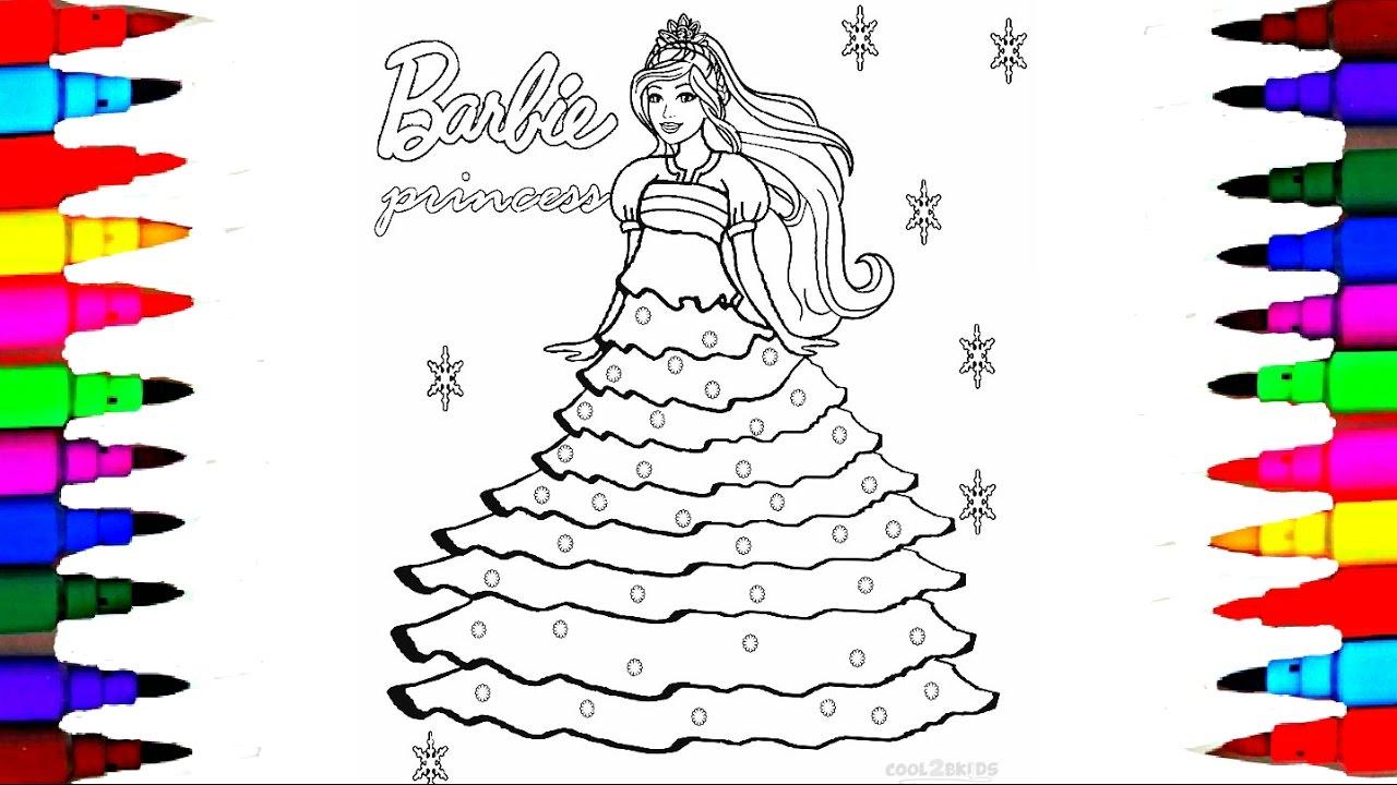 princess barbie coloring pages - photo#50