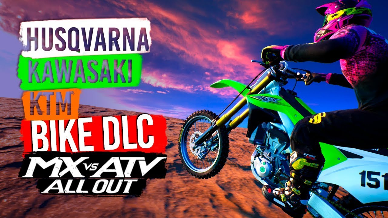 mx vs atv all out new bike dlc kx450f fc450 450sx f. Black Bedroom Furniture Sets. Home Design Ideas