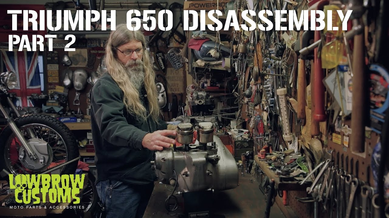 Triumph 650 Motorcycle Engine Disassembly Rebuild Part 2 Lowbrow 1970 Trophy Wiring Diagram Customs