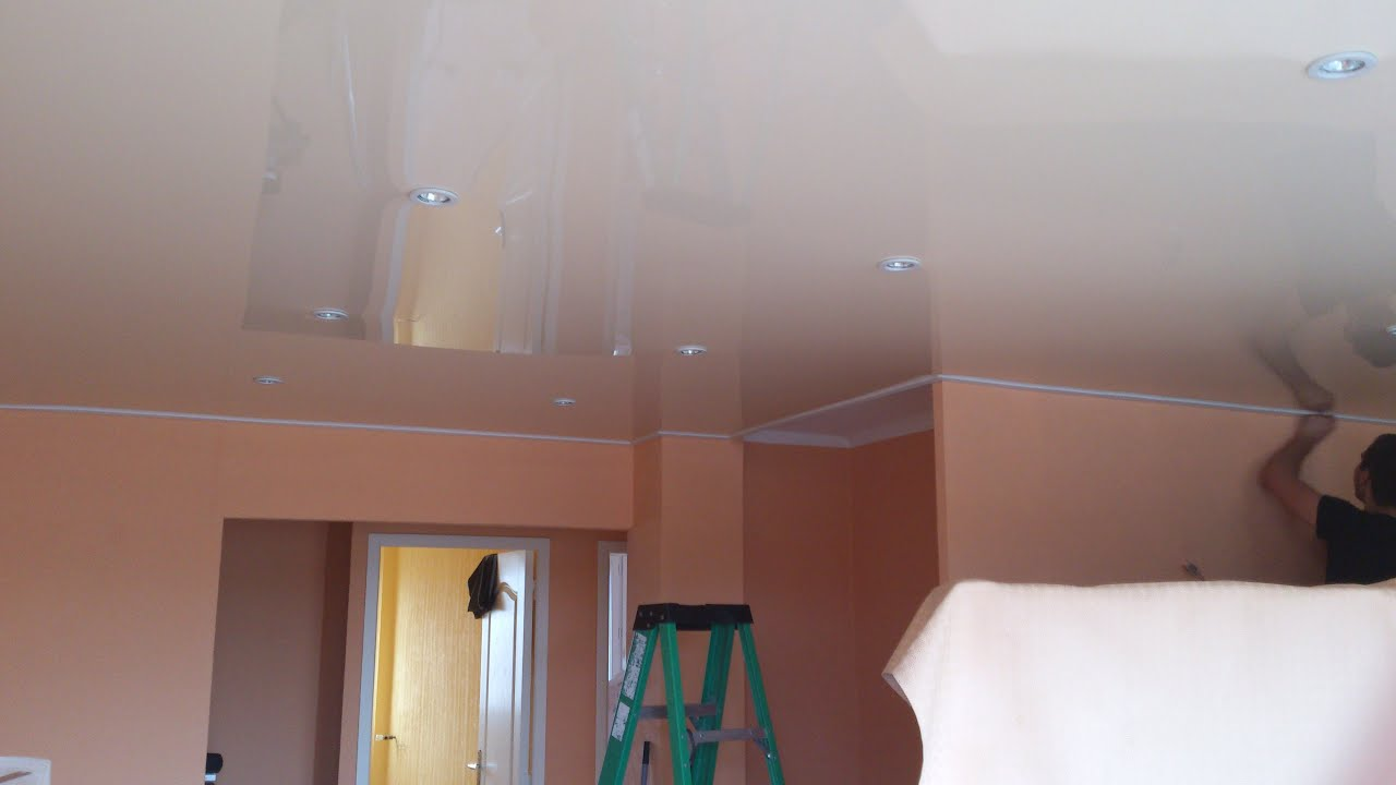 How To Install Stretch Ceiling Youtube