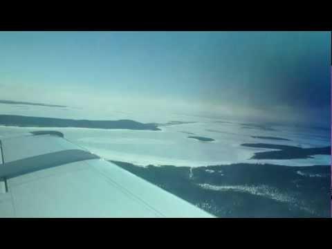 Wemindji and James Bay Takeoff, Beech King-Air 100, Friday April 13, 2012