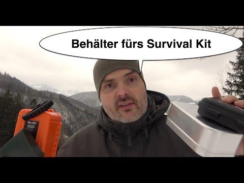 wasserdichte Behälter fürs Survival Kit
