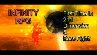 Roblox Infinity RPG! First time in 2nd Dimension & Pulsar God Battle!