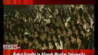 Rahul Gandhi in Aligarh Muslim University