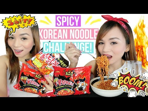 SPICY KOREAN NOODLE CHALLENGE (2X SPICY SH*T!!!) | English 먹방