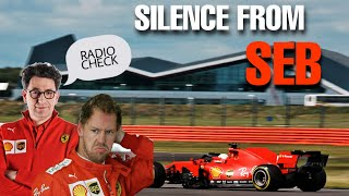 "SILENCE on Vettel's radio after DISASTROUS weekend!  Binotto: ""We're together"" Silverstone 2020"