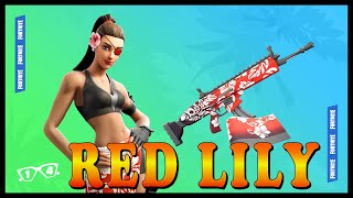 "FORTNITE: 14 DAYS OF SUMMER (DAY 9) - NEW ""RED LILY"" SKIN SET! // #9 UNVAULTED ""SIX SHOOTER"""