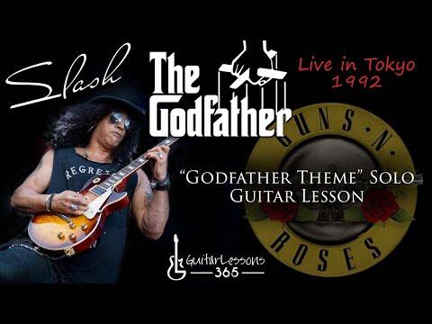 Slash – Godfather Theme Solo Guitar Lesson – Guns N' Roses Live in Tokyo 1992