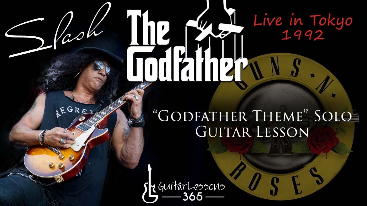 Slash - Godfather Theme Solo Guitar Lesson - Guns N' Roses Live in Tokyo  1992