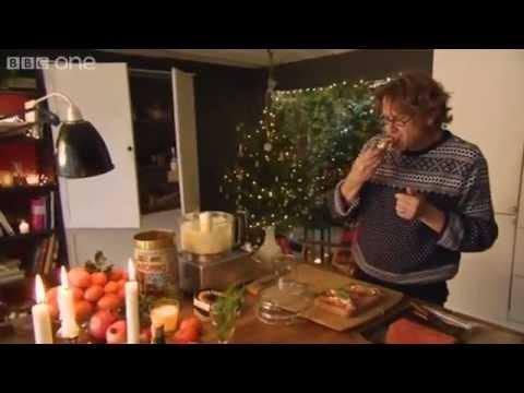 Smoked salmon   roasted garlic cream - Nigel Slater's 12 Tastes of Christmas - Episode 1