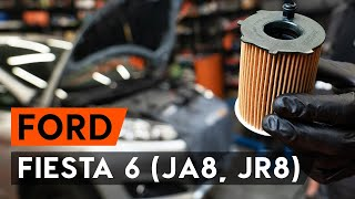 Fitting Oil Filter FORD FIESTA VI: free video