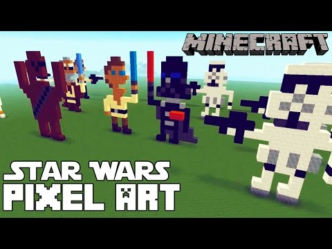 Minecraft Star Wars Pixel Art Templates