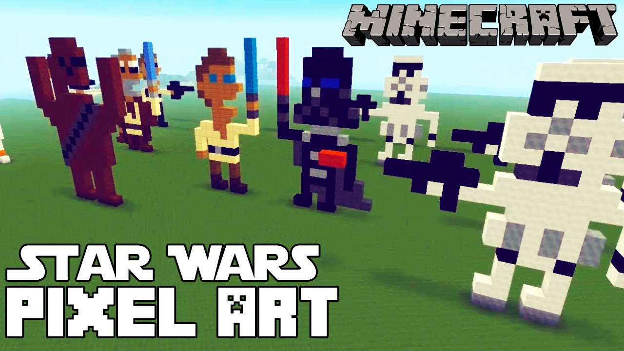 Minecraft Star Wars Pixel Art Templates - YouTube