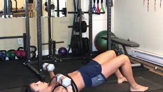 Chest press + bridge