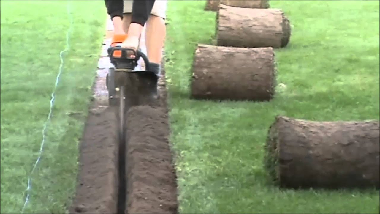 Mini Trencher Handheld Fast Trenching Youtube