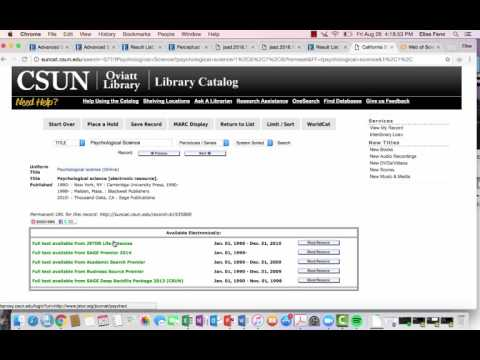 Library Overview Alternative Search Options