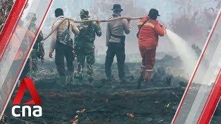 Haze engulfs Riau province's capital city, Pekanbaru