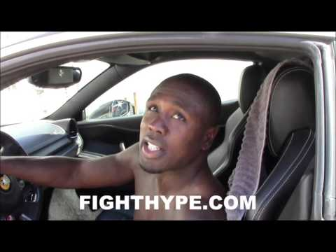 "ANDRE BERTO PEELS OUT IN ""LITTLE TOY"" FERRARI 458"