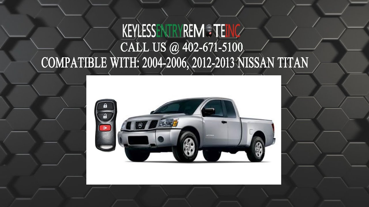 How To Replace Nissan Titan Key Fob Battery 2004 2005 2006