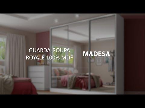 Guarda Roupa Casal Royale 100% MDF Madesa