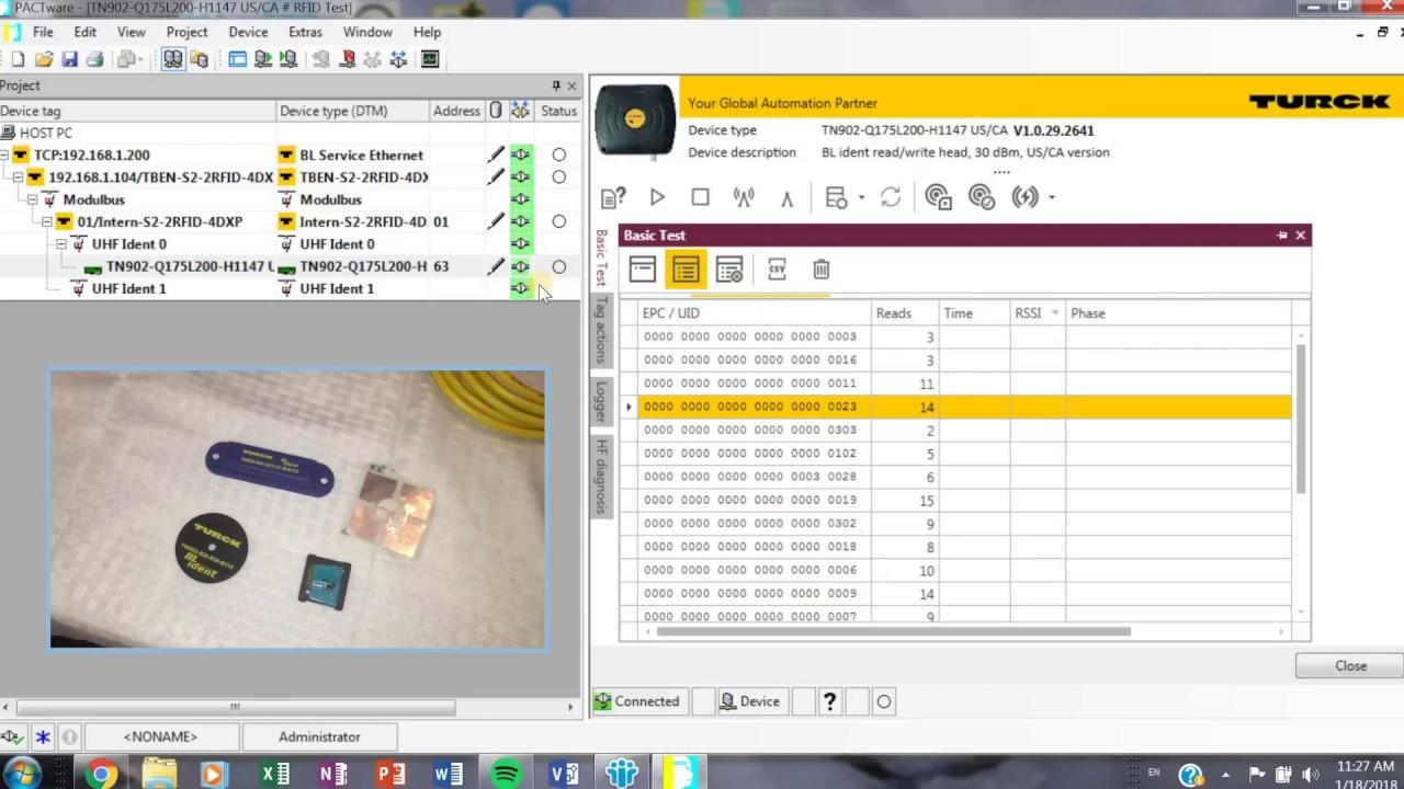 Turck RFID Test Demo