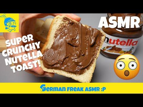 ASMR eating no talking: crunchy Nutella toast!🇮🇹 *extreme crunchy*