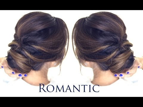 5-MINUTE Romantic Bun Hairstyle: EASY Updo Hairstyles