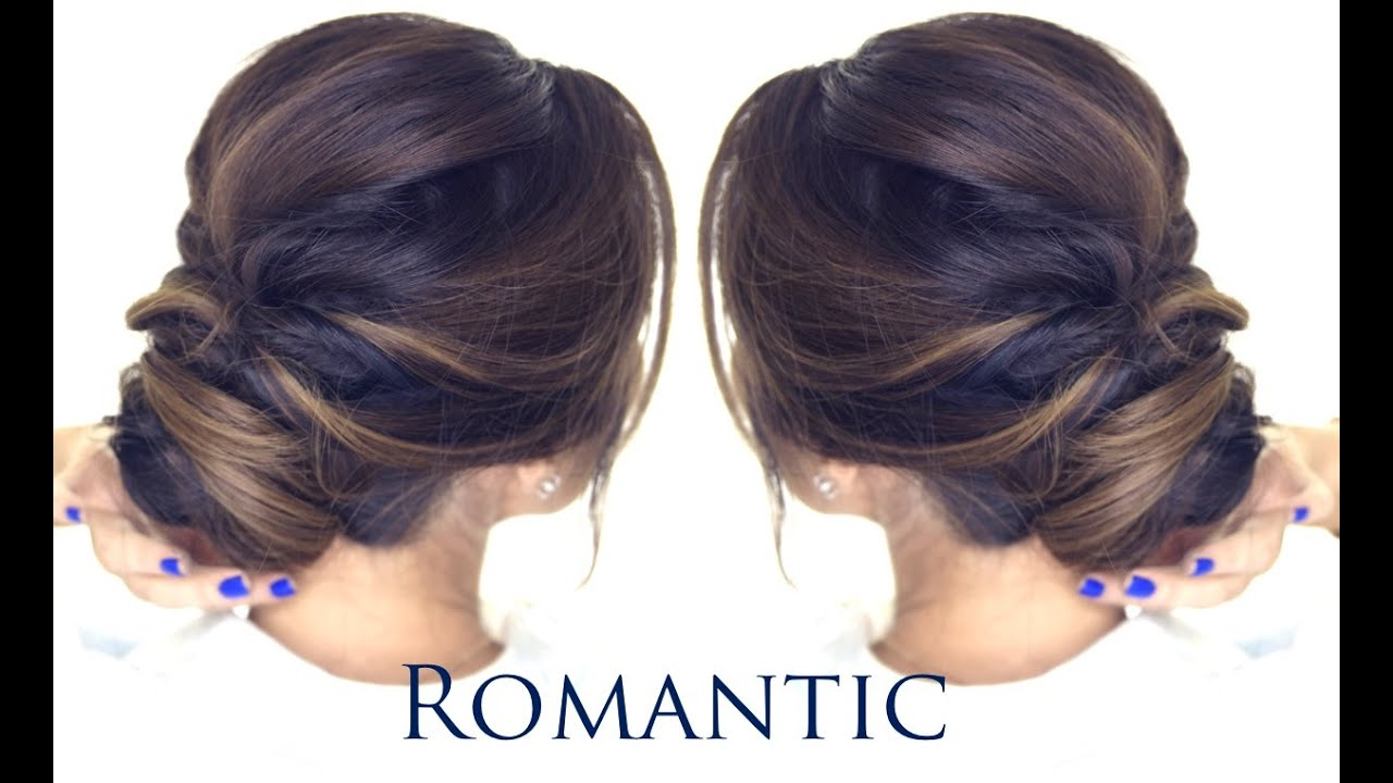 Hairstyle Bun : MINUTE Romantic Bun Hairstyle EASY Updo Hairstyles - YouTube