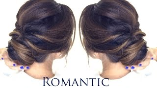 5-MINUTE Romantic Bun Hairstyle | EASY Updo Hairstyles