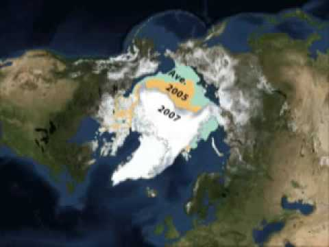 Arctic Sea Ice loss 1979 to 2007