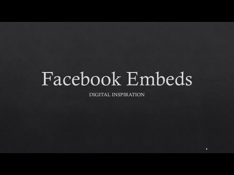 How to Embed Facebook Posts including Photos & Videos
