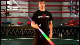 Bo staff attack techniques : bo staff behind the back spin