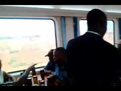 China train know as SGR overtake our modern coast coach travelling by road
