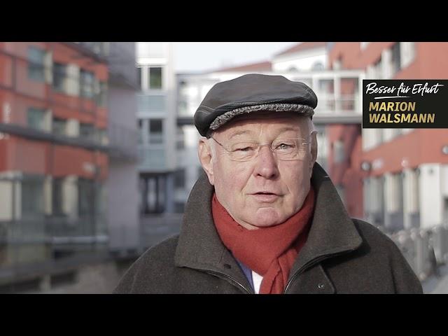 Albert A. Hartmann unterstützt Marion Walsmann als OB-Kandidatin für Erfurt